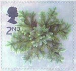 Christmas 2nd Stamp (2002) Blue Spruce Star