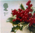 Christmas 1st Stamp (2002) Holly