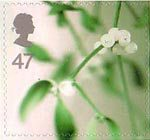 Christmas 47p Stamp (2002) Mistletoe