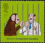50th Anniversary of Discovery of DNA 1st Stamp (2003) Comparative Genetics