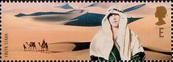 Extreme Endeavours (British Explorers) E Stamp (2003) Freya Stark (traveller and writer) and Desert
