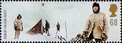 Extreme Endeavours (British Explorers) 68p Stamp (2003) Robert Falcon Scott (Antarctic explorer) and Norwegian Expedition at the Pole
