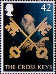British Pub Signs 42p Stamp (2003) 'The Cross keys' (George Mackenney)