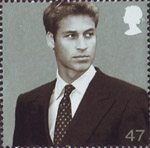 21st Birthday of Prince William of Wales 47p Stamp (2003) prince William in September 2001 (Camera Press)