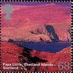 A British Journey : Scotland 68p Stamp (2003) Pap Little, Shetland Islands