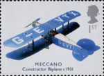 Classic Transport Toys 1st Stamp (2003) Meccano Constructor Biplane, c. 1931