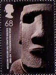 250th Anniversary of the British Museum 68p Stamp (2003) Hoa Hakananai'a. c. AD1000