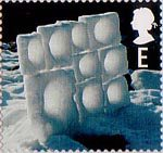 Christmas E Stamp (2003) Wall of Ice Blocks