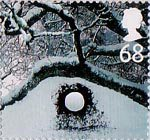 Christmas 68p Stamp (2003) Ice Hole