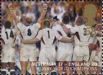 England's Victory in Rugby World Cup Championship, Australia 68p Stamp (2003) Rear of Team