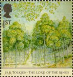 Tolkien 1st Stamp (2004) Forest of Lothlorien in Spring