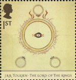 Tolkien 1st Stamp (2004) Dust-jacket for The Fellowship of the Ring