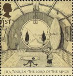 Tolkien 1st Stamp (2004) The Hall at Bag End