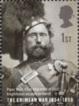 150th Anniversary of the Crimean War 1st Stamp (2004) Piper Muir, 42nd Regt of Foot, Amphibious Assault on Kerch