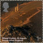 A British Journey : South West England 1st Stamp (2005) Wheal Coates, St Agnes