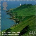 A British Journey : South West England 40p Stamp (2005) Start Point, Start Bay