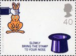 Centenary of the Magic Circle 40p Stamp (2005) Rabbit out of Hat Trick
