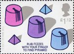 Centenary of the Magic Circle £1.12 Stamp (2005) Pyramid under Fez Trick