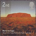 World Heritage Sites 2nd Stamp (2005) Uluru-Kata Tjuta National Park, Australia