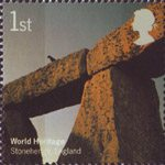 World Heritage Sites 1st Stamp (2005) Stonehenge, England