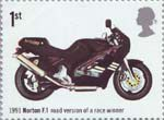 British Motorcycles 1st Stamp (2005) Norton F.1, Road Version of Race Winner (1991)