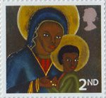 Christmas 2nd Stamp (2005) Black Madonna and Child from Haiti