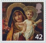 Christmas 42p Stamp (2005) 'The Virgin mary with Infant Christ'