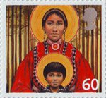 Christmas 60p Stamp (2005) Choctaw Virgin Mother and Child (Fr. John Giuliani)