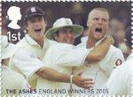 England's Ashes Victory 1st Stamp (2005) First Test, Lords