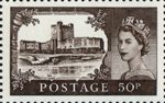 50th Anniversary of First Castles Definitives 50p Stamp (2005) Carrickfergus Castle