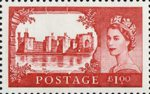 50th Anniversary of First Castles Definitives £1 Stamp (2005) Caernarfon Castle