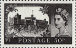 50th Anniversary of First Castles Definitives 50p Stamp (2005) Windsor Castle