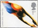 London's Successful Bid for Olympic Games, 2012 1st Stamp (2005) Swimming