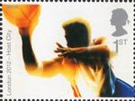 London's Successful Bid for Olympic Games, 2012 1st Stamp (2005) Basketball