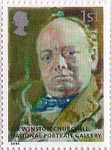 National Portrait Gallery 1st Stamp (2006) Portrait of Winston Churchill by Walter Richard Sickert
