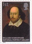 National Portrait Gallery 1st Stamp (2006) William Shakespeare attributed to John Taylor