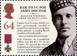 150th Anniversary of the Victoria Cross 64p Stamp (2006) Bar to VC for Army Doctor - Captain Noel Chavasse, RAMC