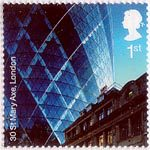 Modern Architecture 1st Stamp (2006) 30 St Mary Axe (AKA The Gherkin), London EC3