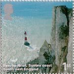 A British Journey - England 1st Stamp (2006) Beachy Head, Sussex Coast, South-East England