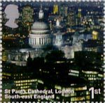 A British Journey - England 1st Stamp (2006) St Pauls Cathedral, London, South -East England