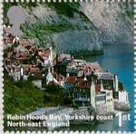 A British Journey - England 1st Stamp (2006) Robin Hoods Bay, Yorkshire Coast, North-East England
