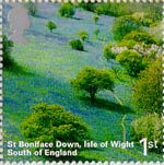 A British Journey - England 1st Stamp (2006) St Boniface Down, Isle of Wight, South of England