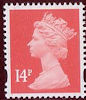 Definitive - Pricing in Proportion  14p Stamp (2006) Rose Red