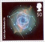 The Sky At Night 50p Stamp (2007) Cat's Eye Nebula C6