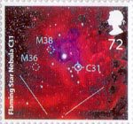 The Sky At Night 72p Stamp (2007) Flaming Star Nebula C31