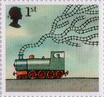 World of Invention 1st Stamp (2007) Railway Locomotive