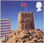 Beside the Seaside 46p Stamp (2007) Sand Castle