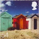 Beside the Seaside 54p Stamp (2007) Beach Huts