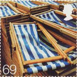 Beside the Seaside 69p Stamp (2007) Deckchairs