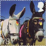 Beside the Seaside 78p Stamp (2007) Donkey Rides